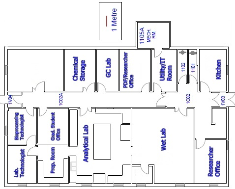 Marinebioprocessingfacility on warehouse floor plan